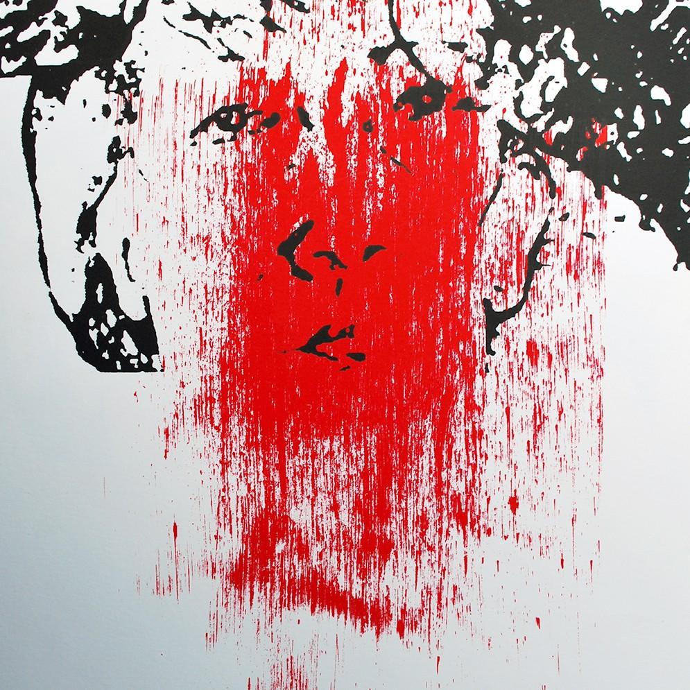 Zelfportret Shame zeefdruk - 30x20cm