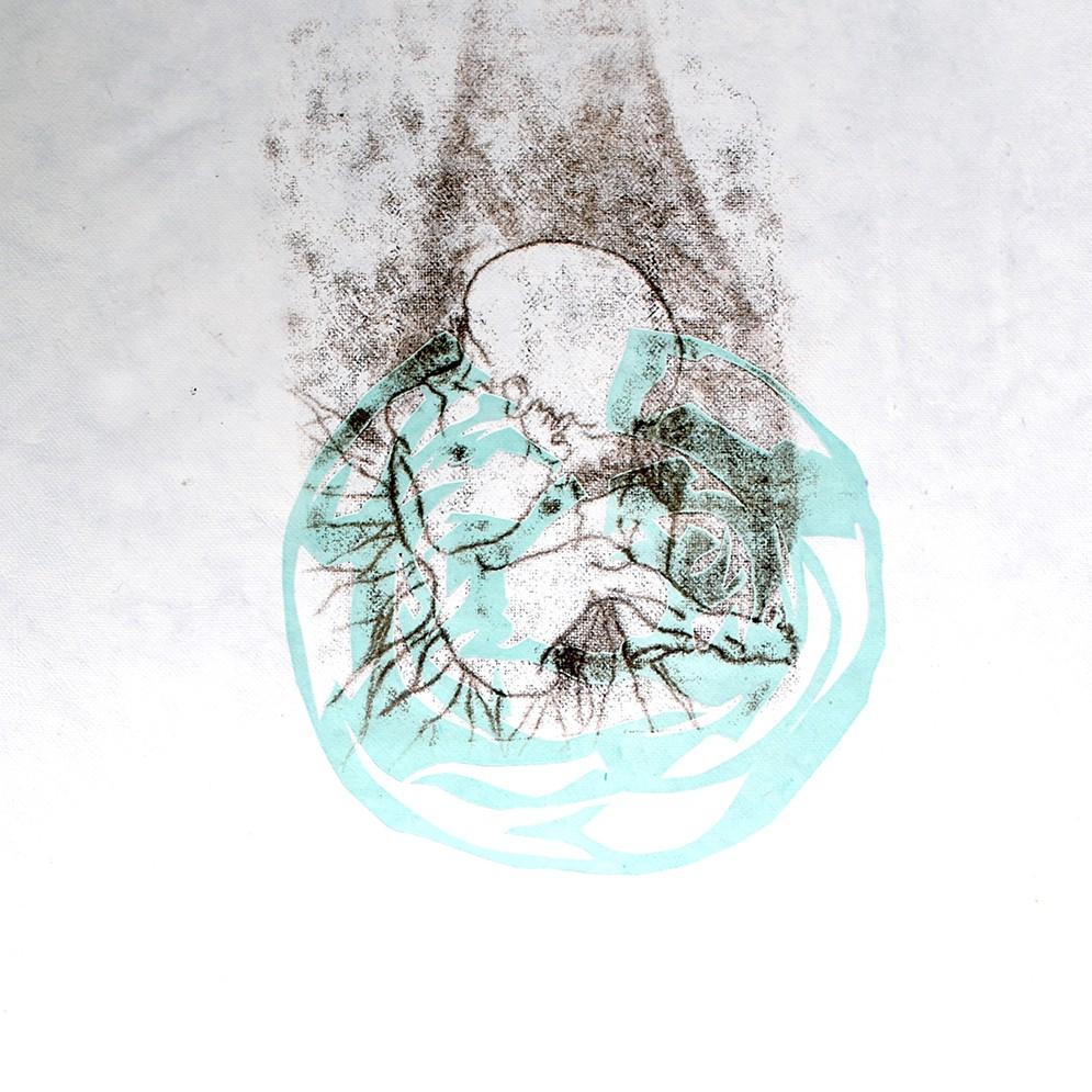 Birth ets/kartondruk - 30x40cm