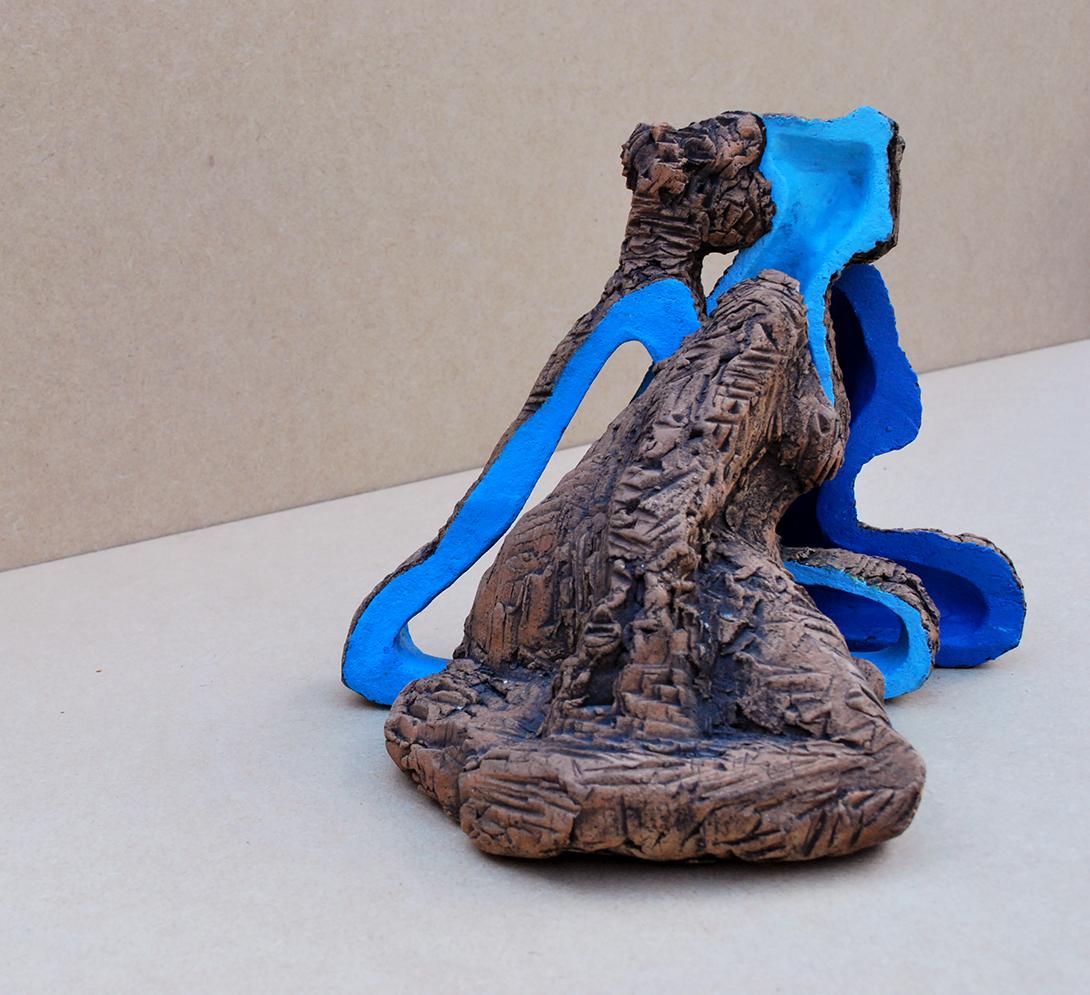 Plakje Vrouw^ keramiek - 20x12x17cm
