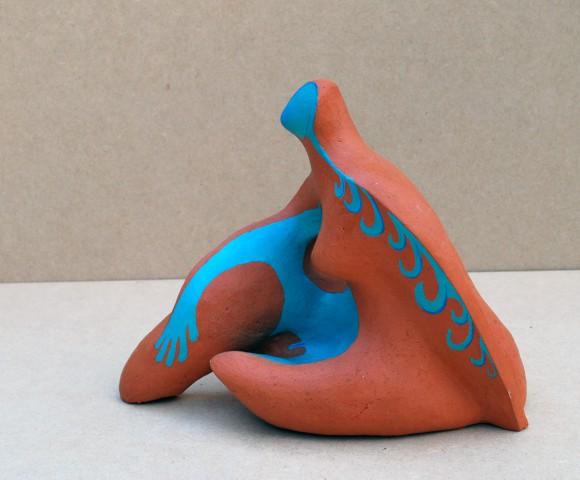 Inner Me^ keramiek acrylbeschilderd - 20x12x18cm