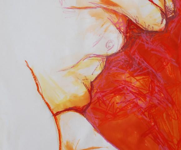 Zonder Titel^ acryl op papier - 90x70cm