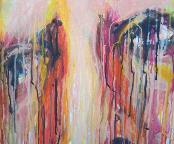 Color of Tears^ acryl - 50x50cm