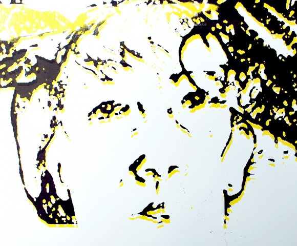 Zelfportret^ zeefdruk - 30x20cm