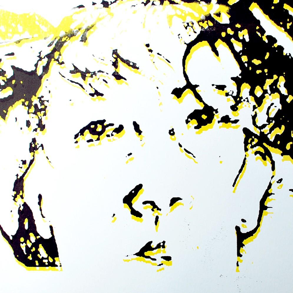 Zelfportret zeefdruk - 30x20cm