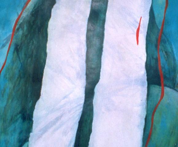 Zonder Titel^ acryl op papier - 70x50cm