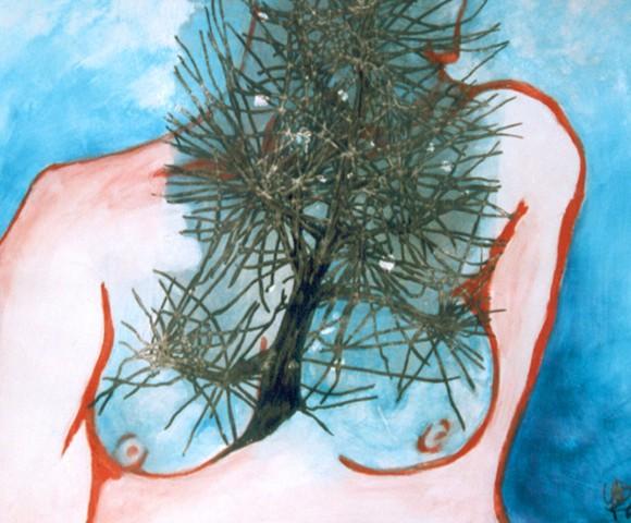 Innerlijke Groei^ acryl - 50x70cm