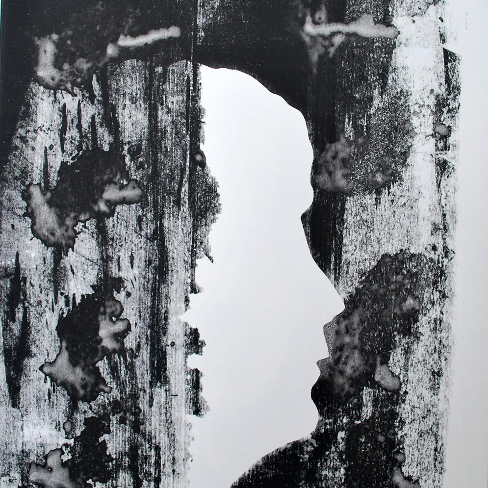 Zelfportret zeefdruk - 30x40cm