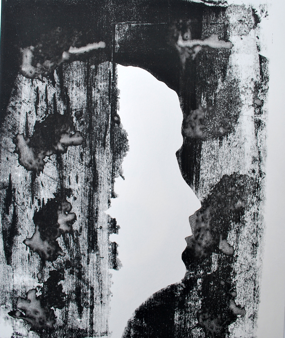 Zelfportret^ zeefdruk - 30x40cm